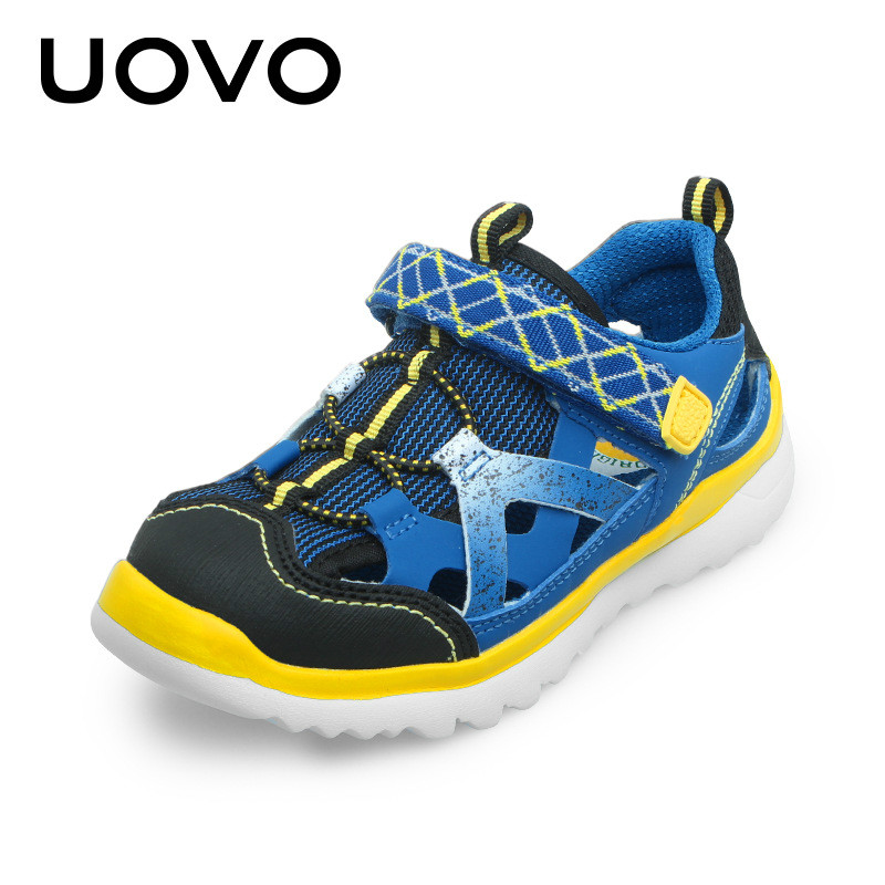 UOVO 2017 New Summer Boys Girls Sandals Children Sports Shoes Students Casual Shoes Soft Soled Hook & Loop Antiskid Size 28-37 summer children shoes child sports sandals female male child sandals black gauze sandals