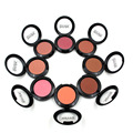 IMAGIC Profesional Colorete Natural Presionado Cara Acabado Naturaleza Belleza Marca de 8 Colores de Maquillaje Paleta de Colorete Impermeable