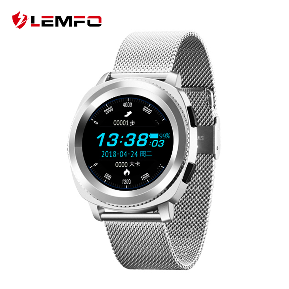 LEMFO L2 Smart Watch Men IP68 Waterproof Heart Rate Monitor Steel Strap Replaceable Sport 1 3