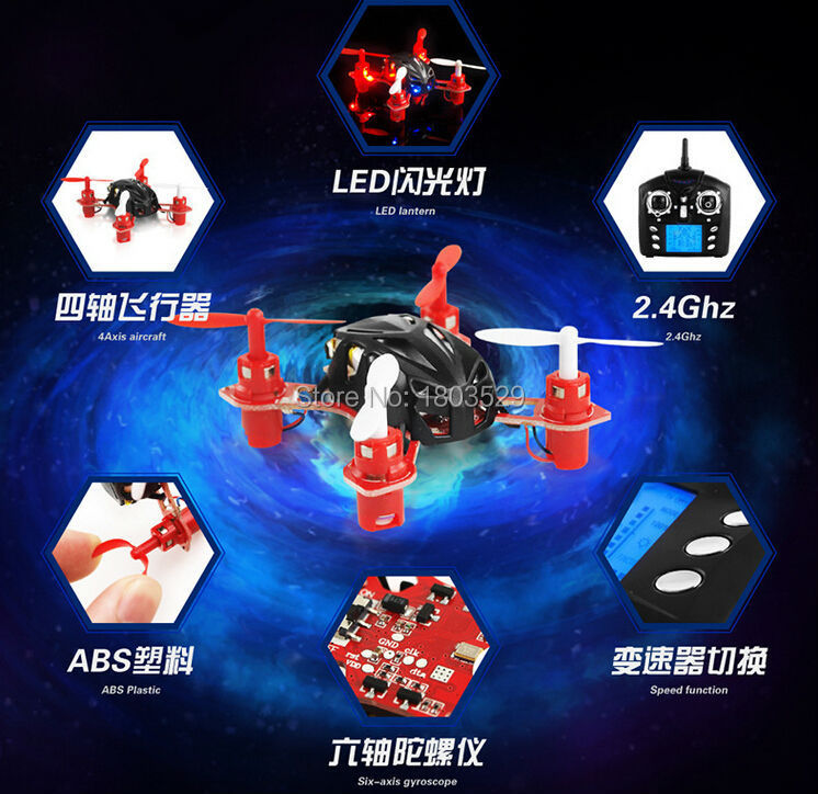 Free Shipping Hot Sell WL V272 Mini Drone 4CH 6 Axis 2.4G Gyro RC airplane LED Quadcopter BNF 3D UFO Toy vs cx10 cx10a v262
