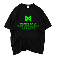 kopo MONSTA X album THE CONNECT around the same paragraph should aid clothes loose student jacket short sleeved T shirt