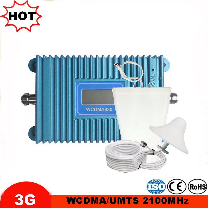 3G Repeater Amplifier WCDMA 2100MHz Signal Booster 2100 LTE Band 1 With LCD Display Mobile Phone Signal Repeater