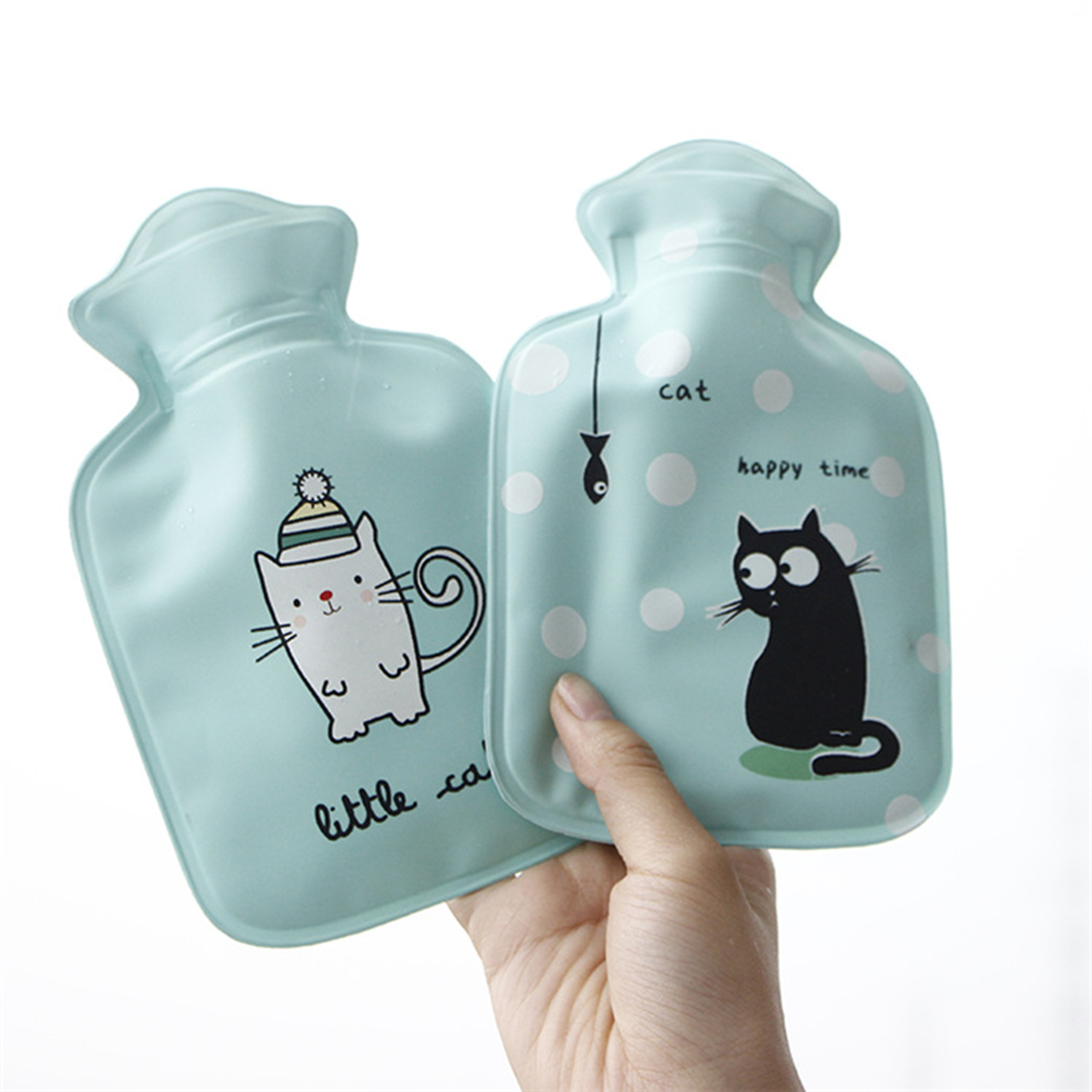 Hot Mini Animals cat Fruits Lemon juice Hot-water bottle Pocket reusable hot cold pack bouillotte eau chaude Random color 800ml fruit juice infusing infuser water bottle sport health lemon juice bottle flip lid