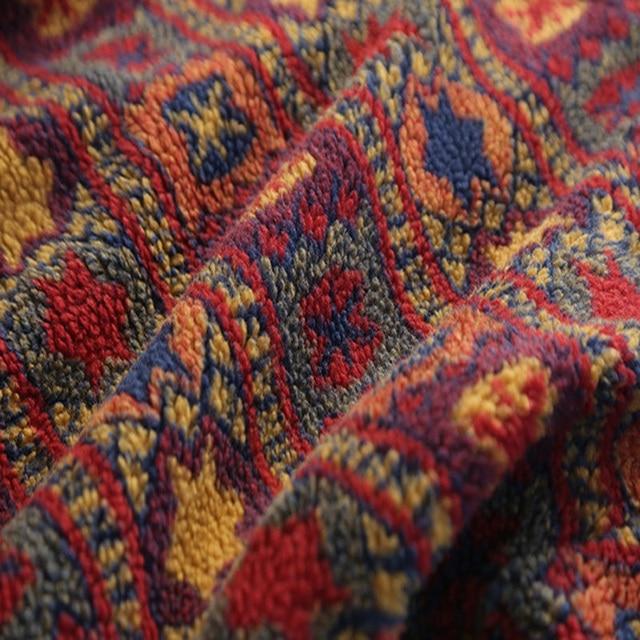 Vintage Print Floral O-Neck Sweatshirt 5