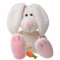 Lovely Carrot Rabbit Plush Dolls Funny Stuffed Animal Toys Cartoon Baby Doll Soothing Toy Kid Playmate