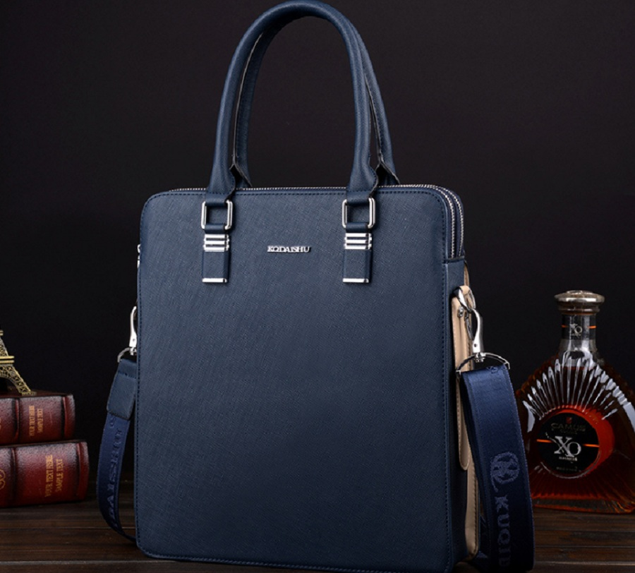 2017 NEW Men Casual Briefcase Business Shoulder Bag Leather Messenger Bags Computer Laptop Handbag Men's Travel 68012NEW vintage crossbody bag military canvas shoulder bags men messenger bag men casual handbag tote business briefcase for computer