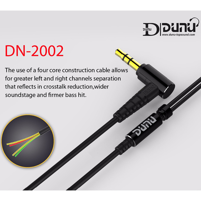 DUNU DN2002 HiFi Inner-ear Earphone 2BA+2Dynamic Hybrid 4 Driver IEM  Earphones with MMCX Connector DN-2002  DN 2002 TOPSOUND 5