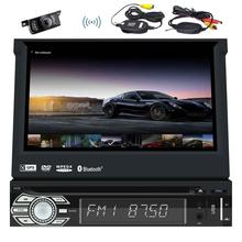Android 6.0 1Din Car Stereo cd DVD Player GPS Navigation WiFi AM/FM Radio Support Mirrorlink/3G/4G/SWC + Wireless Backup Camera