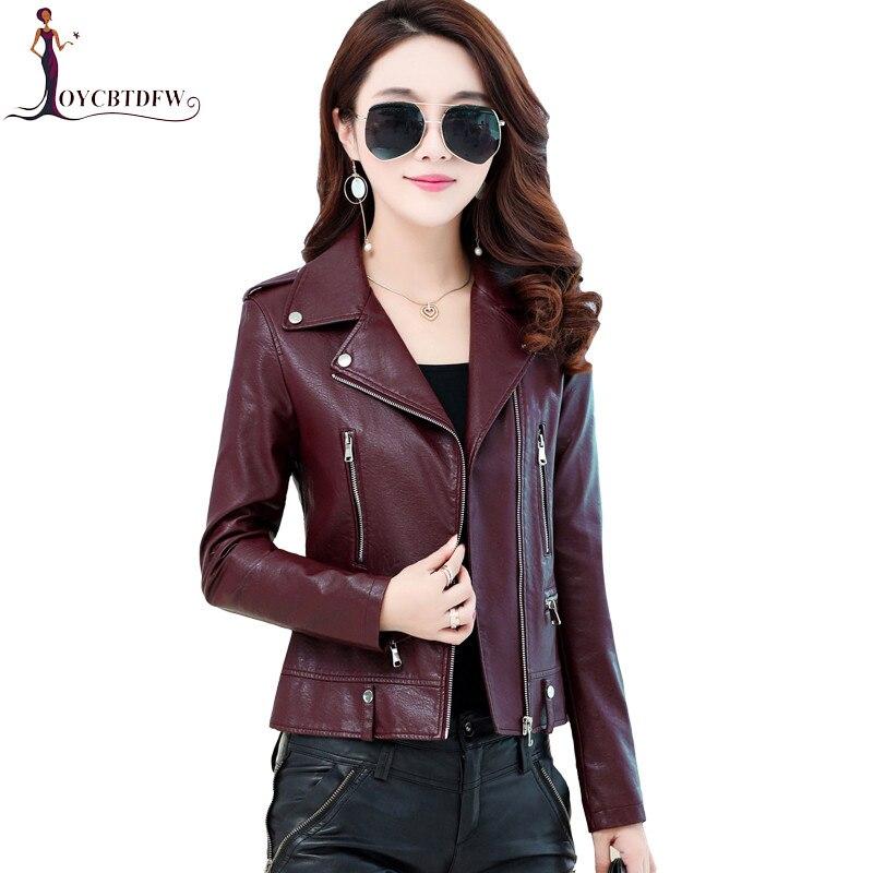 Genuine Leather Jacket Large Size M-4XL Autumn Women Short Sheepskin Leather Motorcycle Outerwear Slim Luxury Coat FASHION489