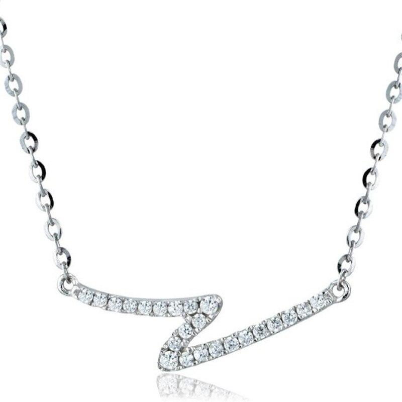 2018 lettre Z 100% réel 18 K or bijoux pendentif collier pour femmes hommes accessoires cadeaux mode haute qualité or bijoux