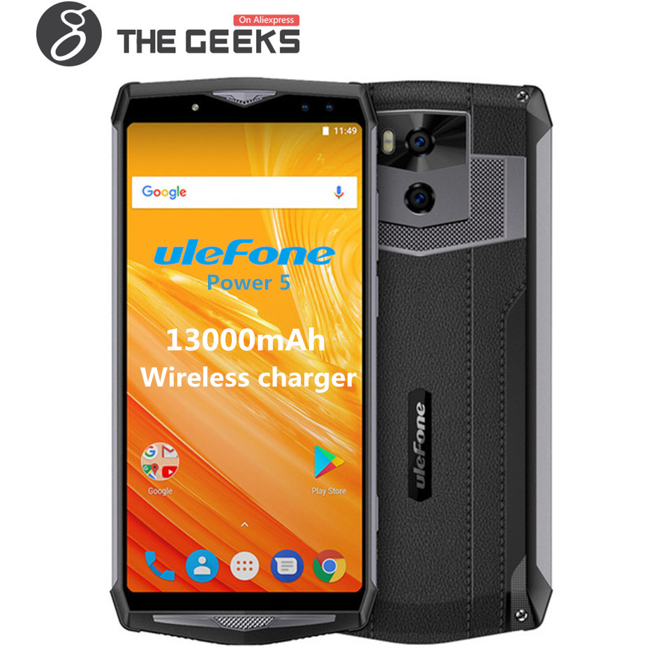 Ulefone Power 5 MTK Octa Core 6.0 pouces 6 gb + 64 gb 21MP 13000 mah Sans Fil chargeur Fingprint Visage ID VoLTE Android 8.1 4g Smartphone