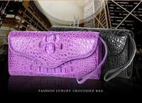 100% натуральная кожа крокодила Кошельки и портмоне крокодиловой кожи кошельки женские клатч крокодиловой кожи
