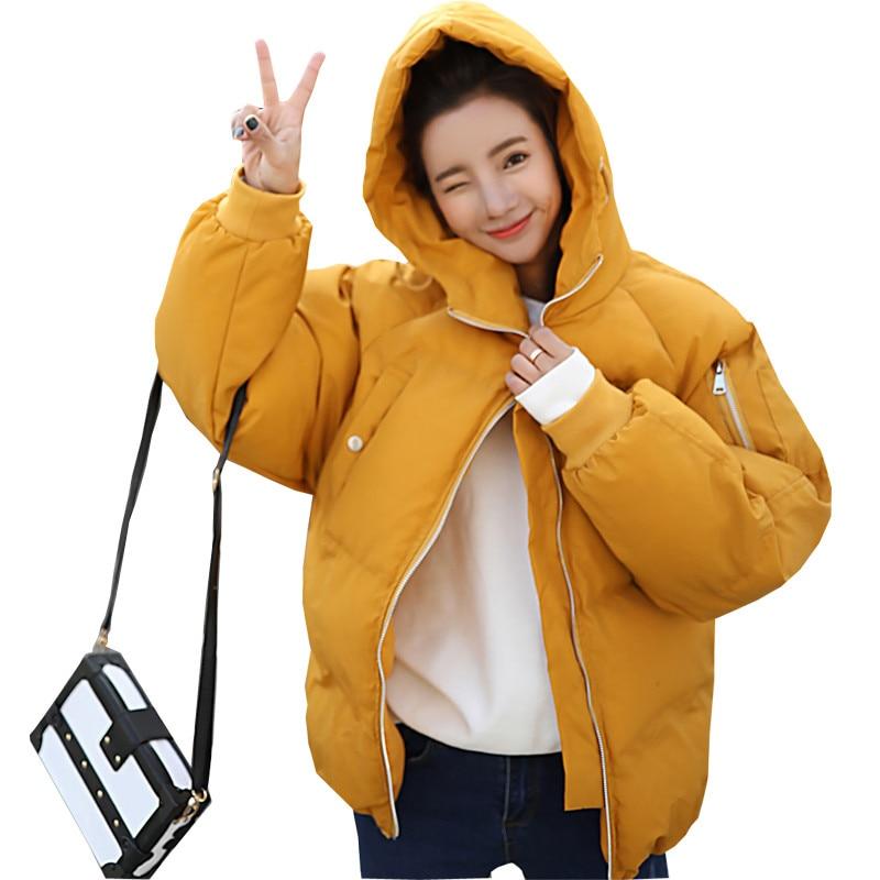 Oversized Coats 2018 Fashion Short Parkas Winter Jacket Women Hooded Thicken Loose Cotton Wadded Coat Women Chaqueta Mujer C3567