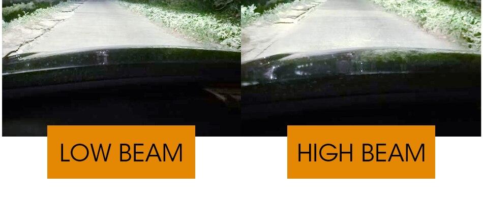 5 hlxg 2PCS CSP  H7 H4 Led Car Headlight Blubs 9005 HB3 9006 HB4 H8 H11 H3 Auto Front Fog lights 48W 6000K 8000LM Fanless 12V