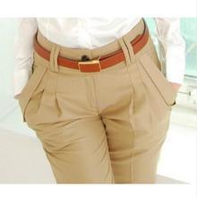 Модные женские брюки размера плюс, весна-лето-осень, повседневные женские брюки с высокой талией, элегантные узкие брюки для женщин