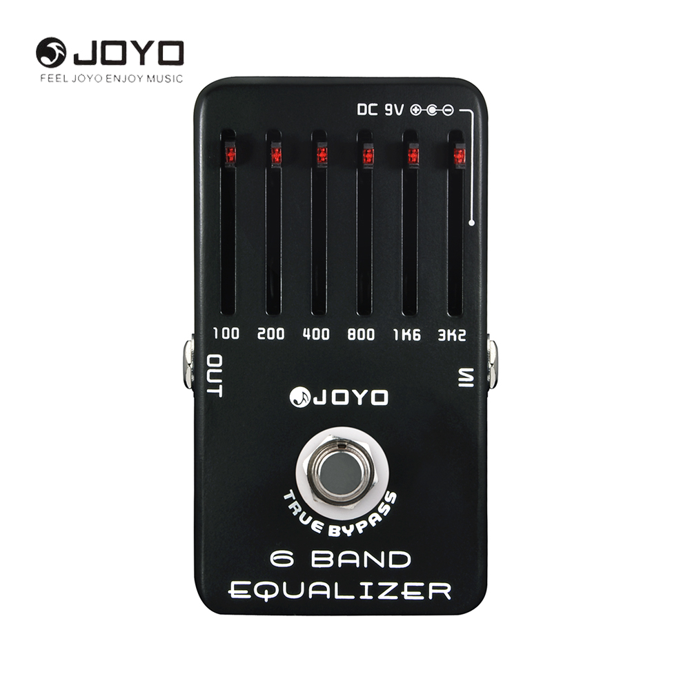 JOYO JF-11 6-Bands EQ Equalizer Electric Guitar Pedal Effect True Bypass Musical Instrument Guitar Accessories aroma adr 3 dumbler amp simulator guitar effect pedal mini single pedals with true bypass aluminium alloy guitar accessories