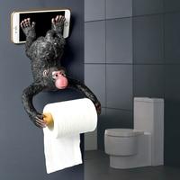 European bathroom monkey tissue toilet paper holder straw paper resin waterproof paper holder wall hanging LO62152