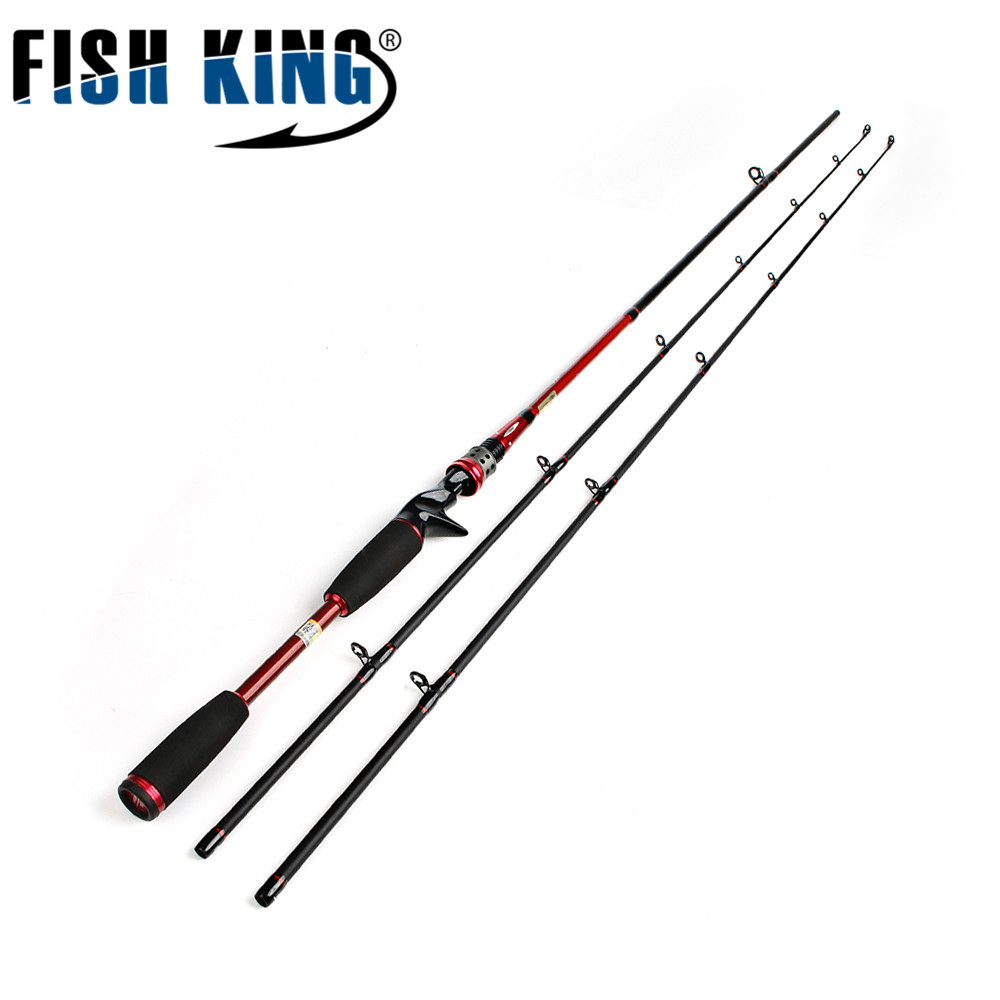 FISH KING 24T Carbon Casting Lure Rod 2.1M Two Segments Section C.W. M ML Lure Weight 7-25g/ 5-25LB