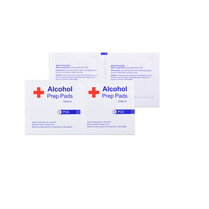 Image 1 - 20 50 100pcs Desinfectie Alcohol Prep Pad Verzegelde Steriele Medicinale Pad Voor Home Reizen Outdoor Kamp Ehbo Kits Accessoires
