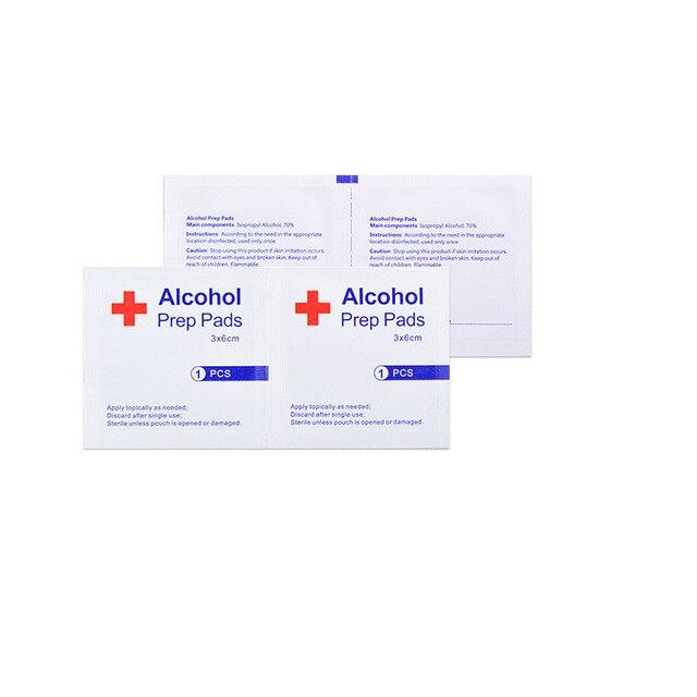 20 50 100pcs Desinfectie Alcohol Prep Pad Verzegelde Steriele Medicinale Pad Voor Home Reizen Outdoor Kamp Ehbo Kits Accessoires