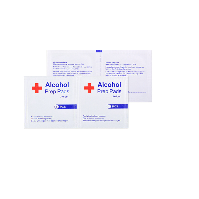 20-50-100pcs Disinfection Alcohol Prep Pad Sealed Sterile Medicated Pad For Home Travel Outdoor Camp First Aid Kits Accessories