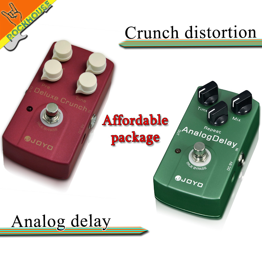 все цены на  Pedals Package sales JOYO JF-39 Crunch distortion+JF33 Analog delay guitar stompbox integrant pedals for heavy rock metal punk  онлайн