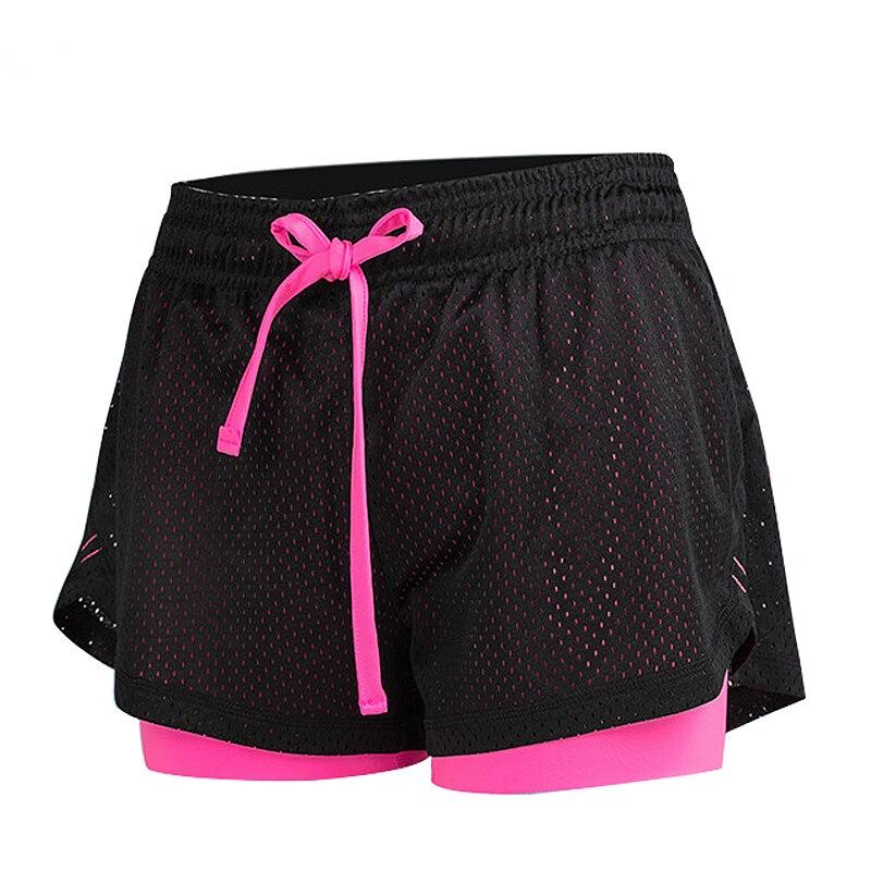 SALSPOR, спортивные женские шорты для йоги, для тренажерного зала, для фитнеса, летние сетчатые Леггинсы для бега, женские повседневные двухсло...