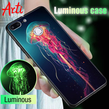 Glass Luminous Phone Case For Huawei Honor 9 Lite P20 Lite P Smart Mate 20 LiteCase On Honor 9 10 8X Play 7C 7A Pro Mate 10 Lite(China)