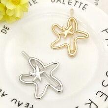 Cute Girl Geometric Hair Clips Sweet Fashion Hollow Star Shape Hairpins Accessories Hairgrips