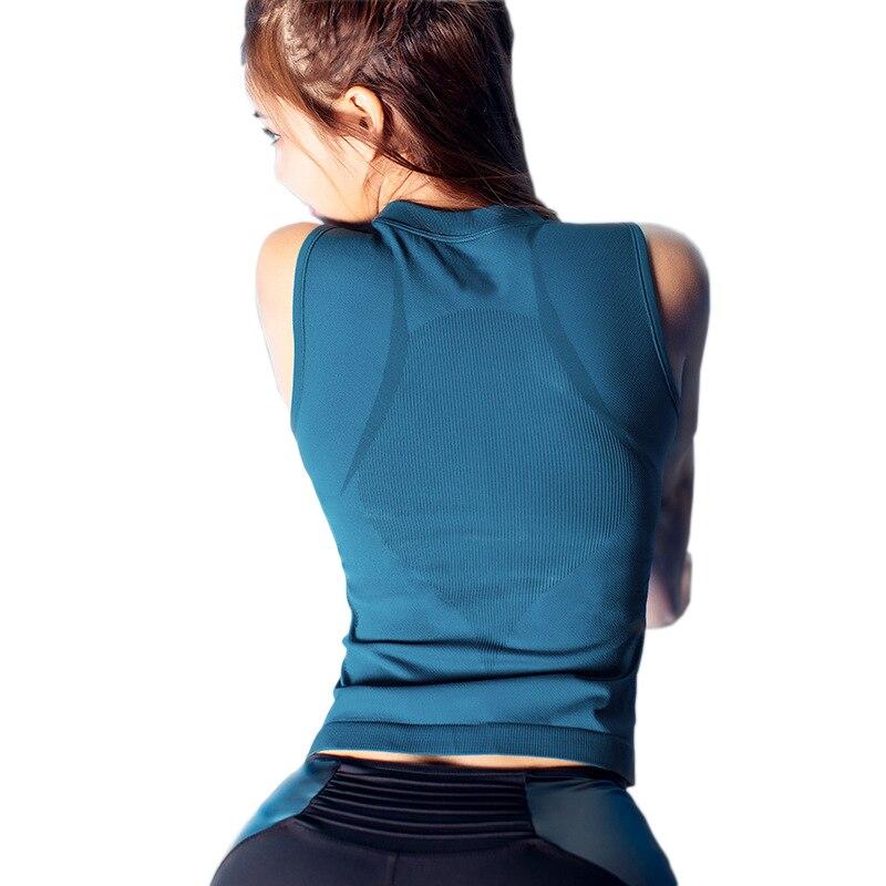 ★  3-х цветная женская майка для бега без рукавов обтягивающая бесшовная жилетка для йоги сексуальная с ①