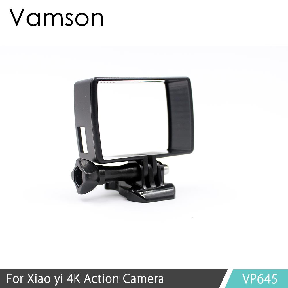 Vamson Accessories Housing Side Mount Protect Frame Case for Xiaomi YI 4K for YI Lite Camera 2 With Mount Base and Screw VP645