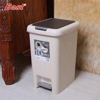 동부 10L 더블 캡 쓰레기통 단계 쓰레기 수 방 휴지통 쓰레기통 홈 청소 ES1026