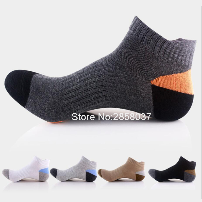 Outdoor Men Sport Cotton Breathable Deodorant Socks Running Camping Sock Calcetines Basketball Soccer Gym font b