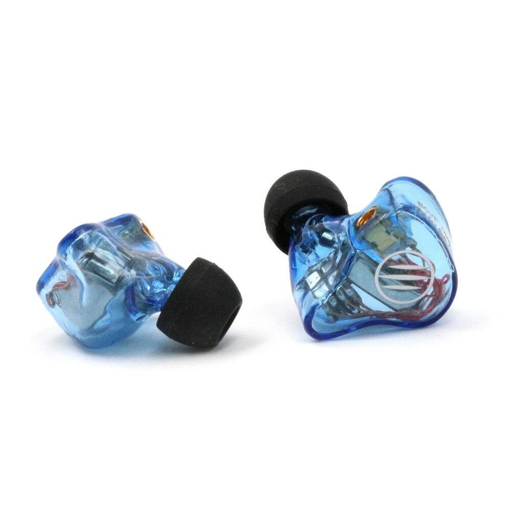 BGVP DM6 5BA oreillette de retour/écouteurs oreillettes MMCX Audiophile HiFi Moniteur Personnalisé Pilotes Armature Équilibrée Écouteurs