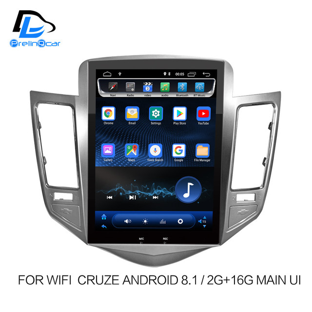 32G ROM Vertical screen android 8.1 system car gps multimedia video radio player  in dash for Chevrolet CRUZE navigation stereo