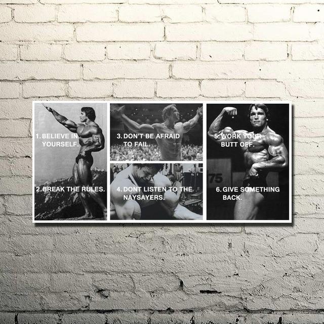 Bodybuilding motivational quote art silk poster print 13x27
