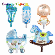 5pc/lot Cute cartoon Baby Boys Girls Helium Foil Balloons Stroller Funny Kids inflatable Toys for Party Birthday decoration Gift