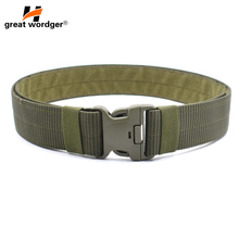 Military Equipment Army Tactical Belt Men Thicken Adjustable Survival Sturdy Nylon Combat Accessories