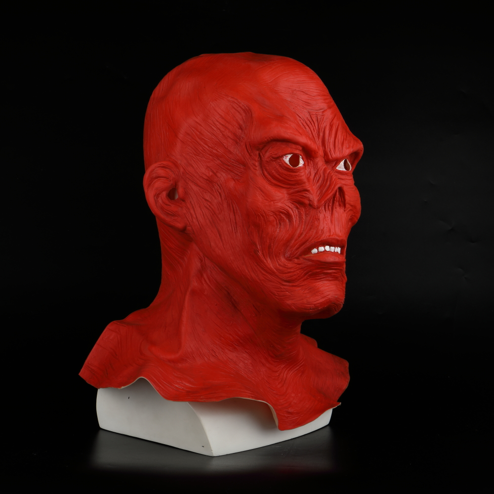 Star Wars Horror Full Head Masquerade Red Skull Hood Latex Mask Halloween Cosplay Zombie Mask New (8)