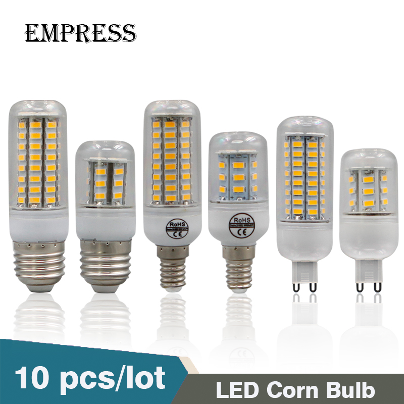 10pcs E27 220V LED Lamp 5730 SMD G9 LED Bulb E14 Corn 24 36 48 56 69 72 Leds Lamp Bombillas Light Bulbs Lampada Ampoule Lighting