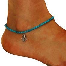 CharmDemon Small Box Women Chain Ankle Bracelet Barefoot Sandal Beach Foot Jewelry  jn15