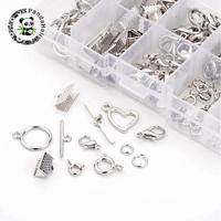 1 Box Mixed Jewelry Findings 40PCS Alloy Lobster Claw Clasps And Brass Spring Clasps 20Sets Alloy