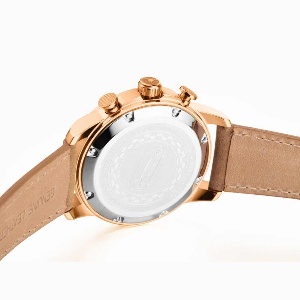 שונית טייגר/RT ספורט שעונים לגברים הכרונוגרף קוורץ שעונים עם תאריך רוז זהב שעון עם זוהר סמני RGA3029