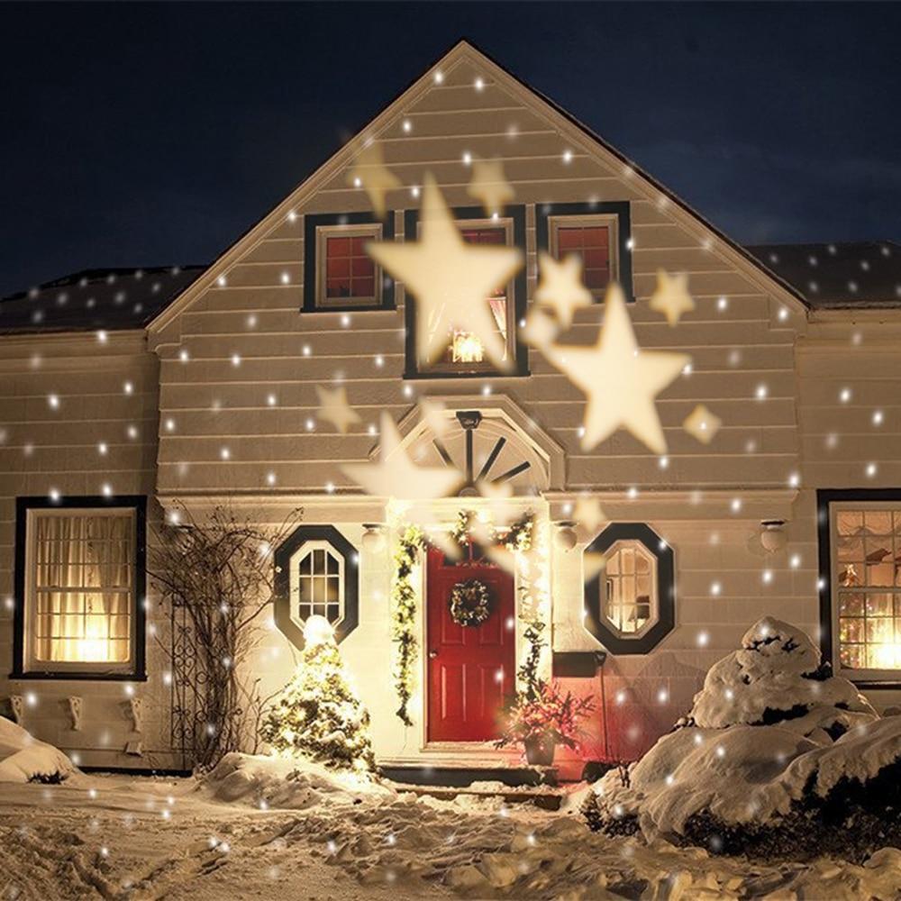 Waterproof ip65 outdoor christmas laser lights,outdoor christmas <font><b>led</b></font> projector lights with warm star shape