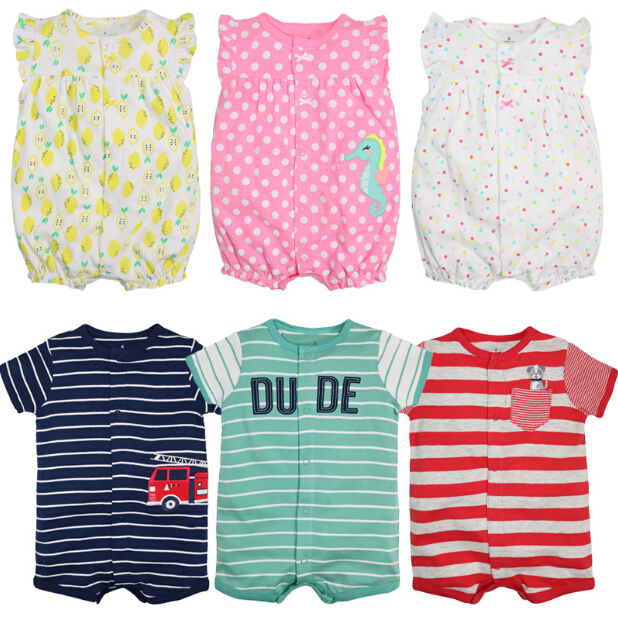 Summer Baby Boy Rompers Fashion Short Sleeve Baby Girls Clothing Sets Roupas  Clothes Newborn Baby Clothes Infant Jumpsuits baby boys girls rompers short sleeve infant jumpsuits summer kids clothing sets cartoon newborn baby clothes for 0 12 month