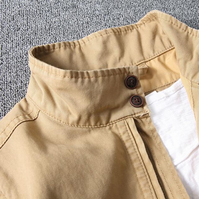 Chaquetas y abrigos militares de otoño e invierno para hombre ropa de calle al aire libre uniformes de algodón chaquetas de camuflaje abrigos caqui XXXL B700