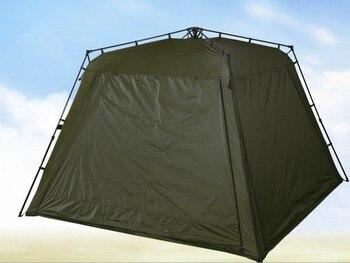 Tiendas militares grandes tienda de campaña al aire libre ArmyGreen Pavilion tienda de cuatro puertas de apertura rápida con mosquiteros 5-8 personas