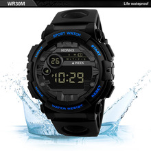 HONHX LED Electronic Watch Men Sports Wrist Watches Alarm