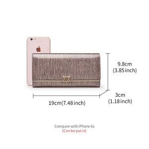 Image 4 - FOXER Brand Women Split Leather Wallets Female Clutch Bag Fashion Coins Card Holder Luxury Purse for Ladies Womens Long Wallet