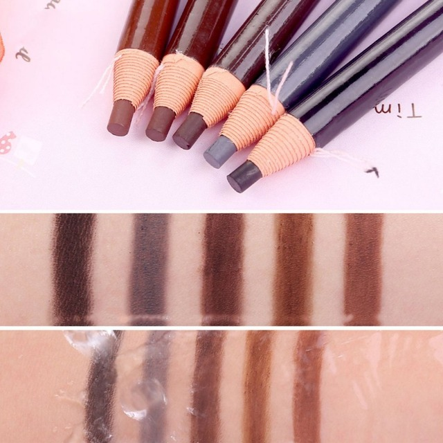 5 colors Eyebrow Pencil With Tearing Thread Long-lasting Natural Brow Pencil Cosmetics Brow Eye Liner Make Up Tool 2